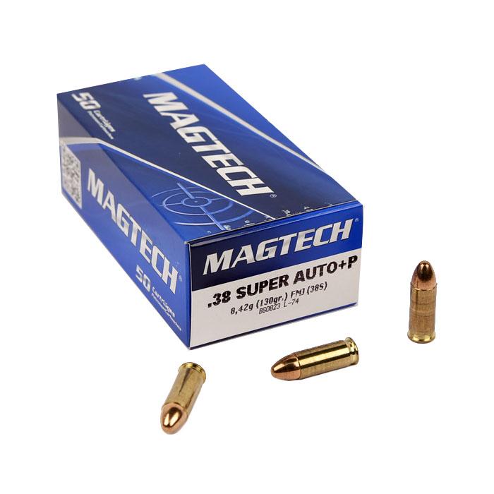 Magtech .38 Super +P 130 GR. FMJ - 50RD