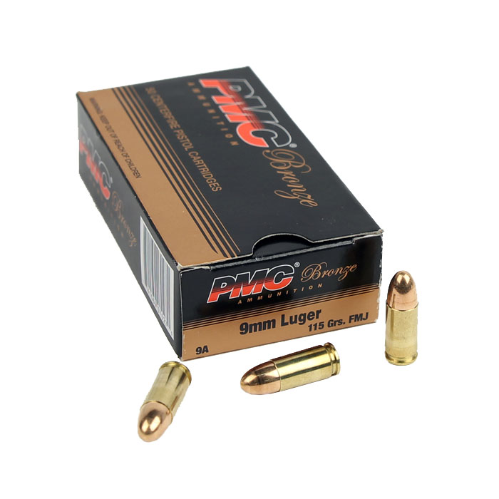 PMC Bronze 9mm Luger 115 GR. FMJ - 50RD