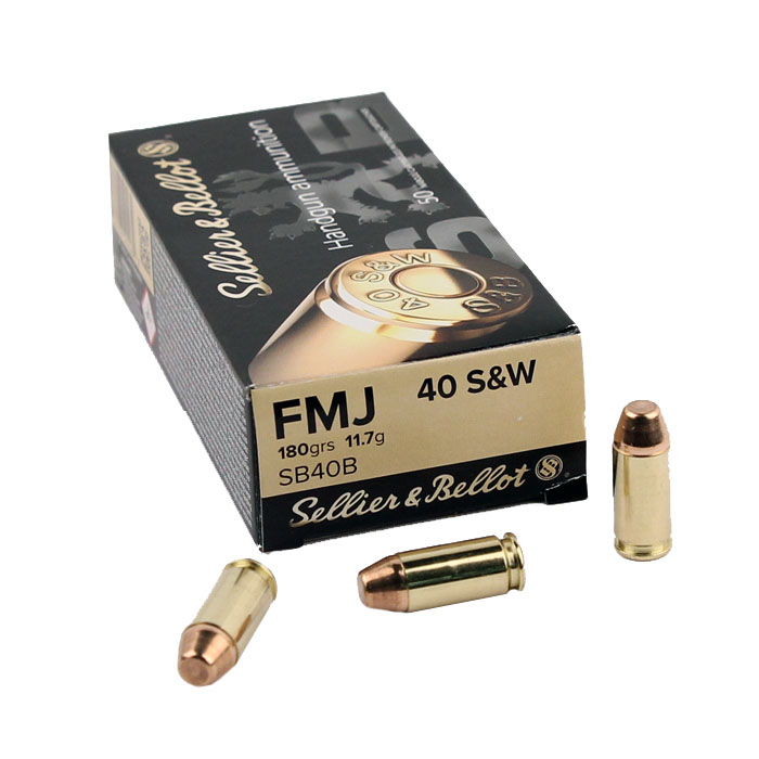 Sellier & Bellot .40S&W 180 GR. FMJ - 50RD