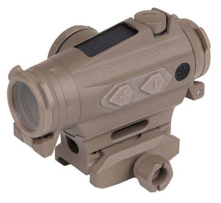 Sig Sauer Romeo4T 1X20mm Solar Red Dot/Ballistic Circle Dot - FDE
