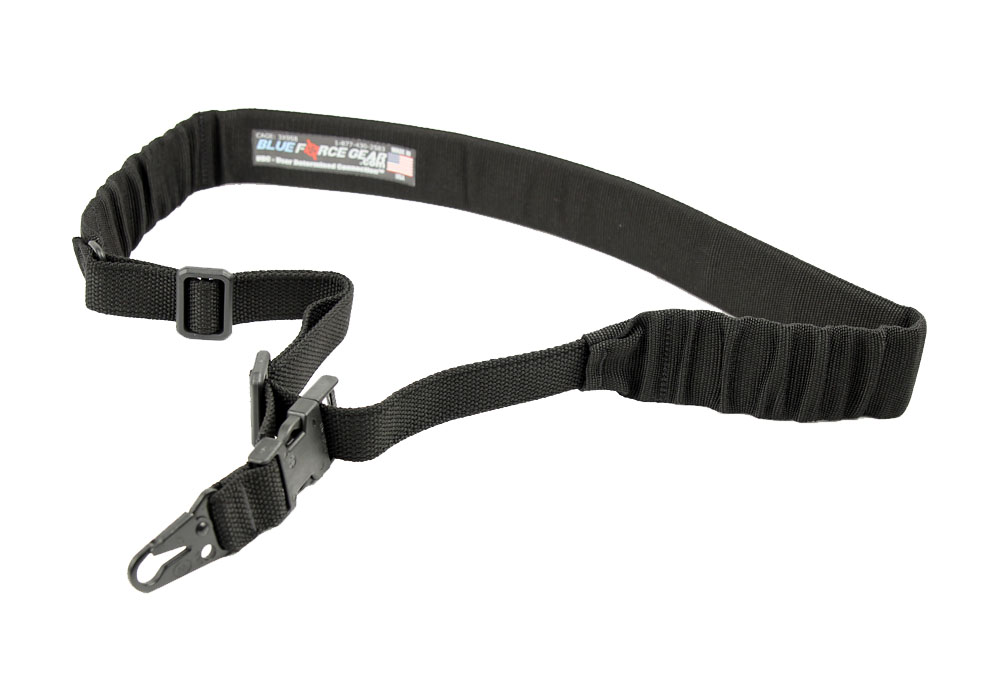 Blue Force Gear UDC One Point Padded Bungee Sling - Hook Adapter - Black