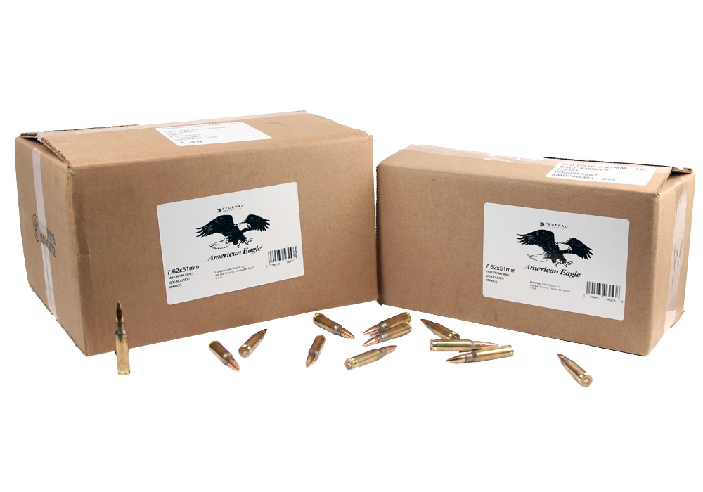 Federal American Eagle M80 7.62X51 NATO 149 GR. FMJ - 1000RD Case