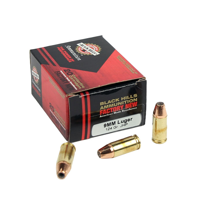 Black Hills 9mm Luger 124 GR. JHP - 20RD