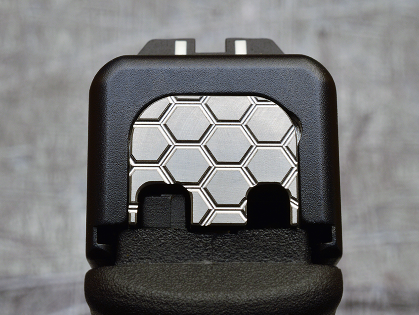 Milspin Custom Stainless Steel Back Plate For Glock Pistols