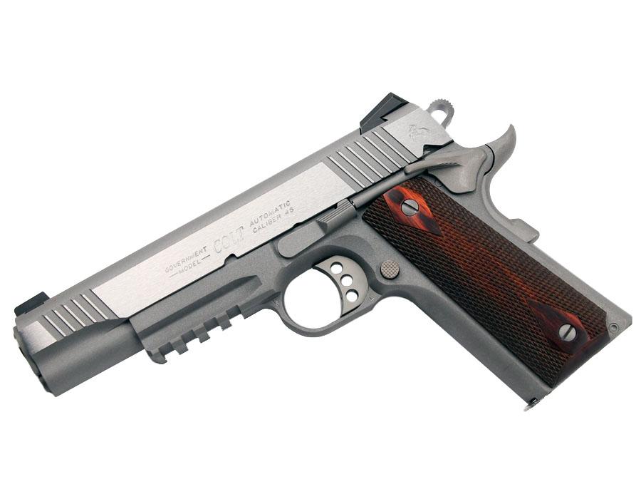 Colt Rail Gun, Govt Model, .45ACP, RAIL, Stainless