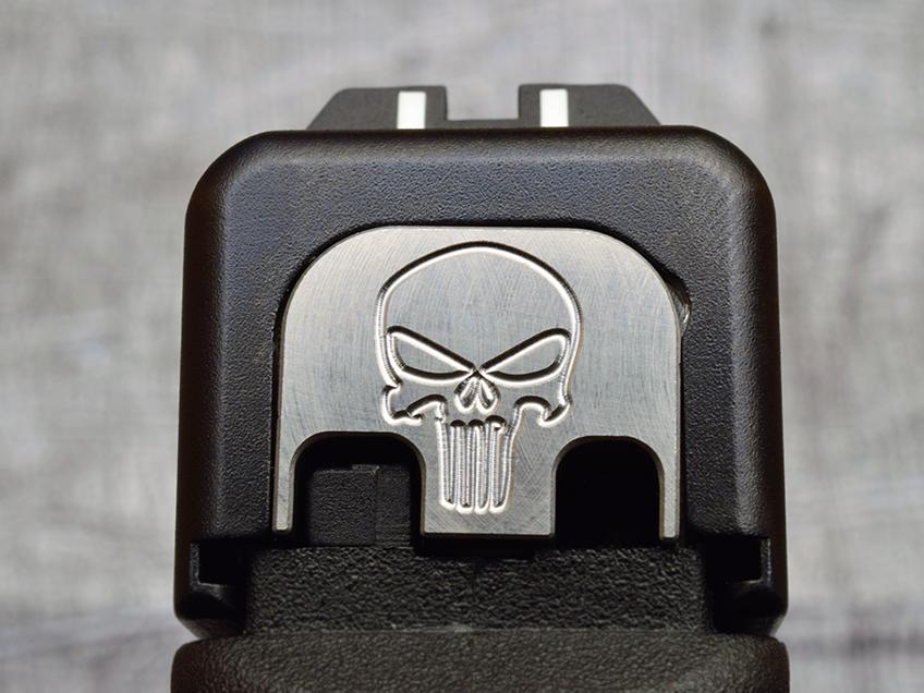 Milspin Custom Stainless Steel Back Plate For Glock Pistols