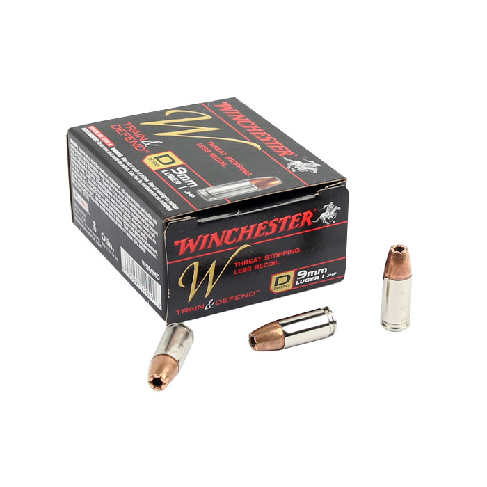Winchester Train & Defend 9mm 147 GR. JHP - 20RD