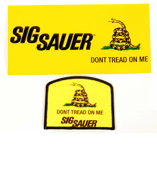 SIG SAUER Gadsden Bumper Sticker and Patch - SALE
