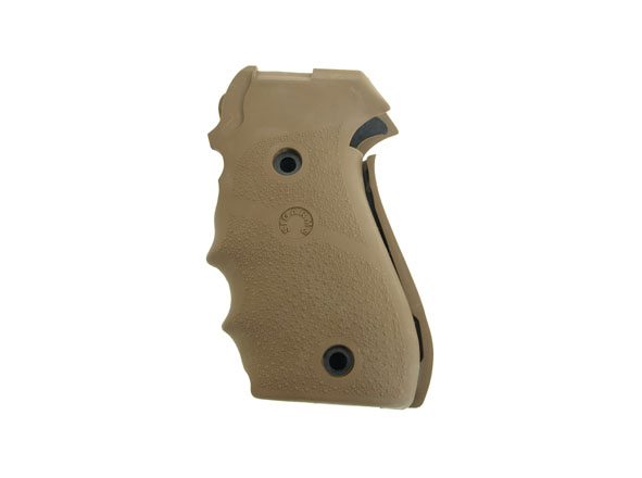 Hogue Rubber Finger Groove Grips P220 w/Sig Logo - Dark Earth