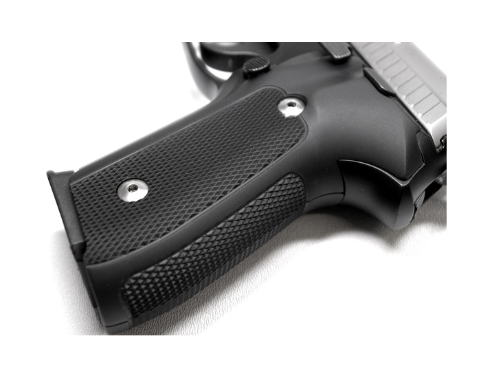 Hogue Extreme Aluminum Grips P220 - CHECKERED MATTE BLACK