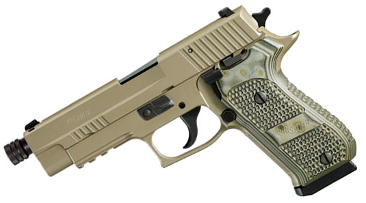 Sig Sauer P220R .45ACP, Scorpion, SigLite Night Sights, DA/SA, SRT - THREADED BARREL