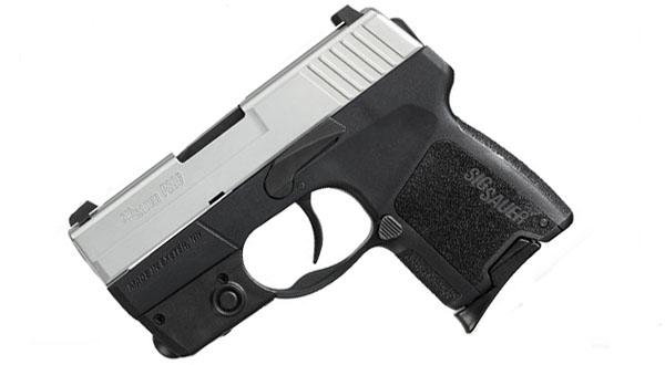 Sig Sauer P290 9mm, T-Tone, SigLite Night Sights, DAO RESTRIKE - Tactical Laser