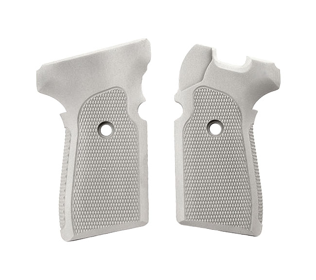 Hogue Extreme Aluminum Grips P239 - CHECKERED CLEAR ANODIZED