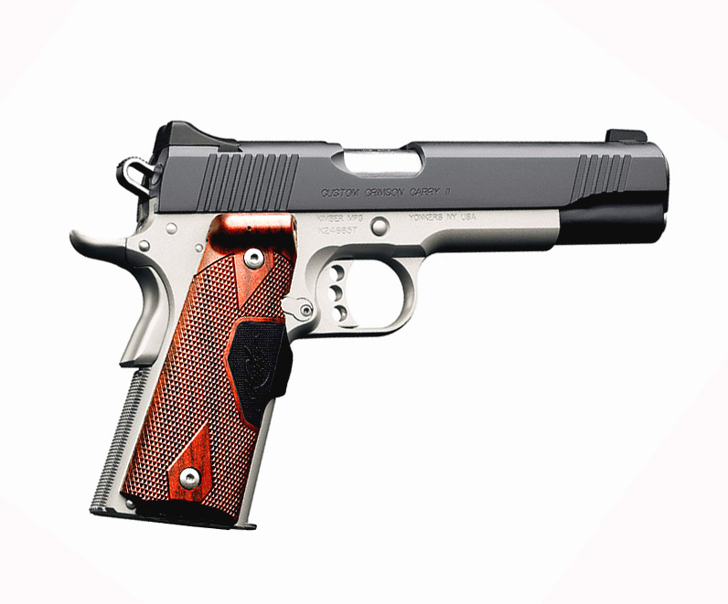 Kimber Custom Crimson Carry II .45ACP Crimson Trace Grips - GREEN
