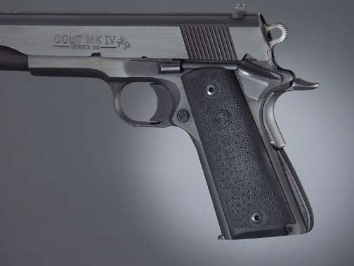 Hogue Rubber Palm Swell Grips 1911 GOVT