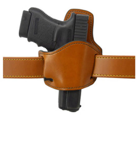 Gould & Goodrich Low Profile Belt Slide Holster 895, Right Hand, BROWN - 1911/UNIVERSAL SMALL AUTO