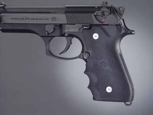 Hogue Rubber Finger Groove Grips Beretta 92/96 Series