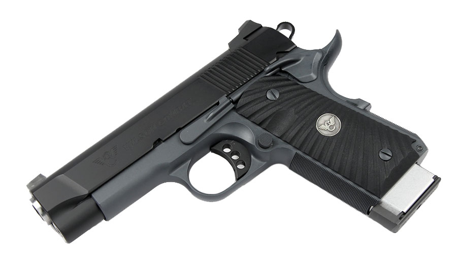 Bill Wilson Carry CQB Compact .45ACP, G-10 Grips, Black/Grey Armor-Tuff