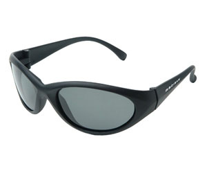 Radians Cobalt Shooting Glasses BLK/DARK SMOKE