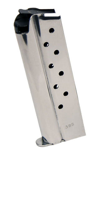 Check-Mate .38 Super, 9RD, Stainless Steel - Full Size 1911 Magazine