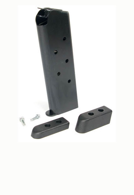 Check-Mate .45ACP, 7RD, Blue, Wadcutter, Bumper Pads - Full Size 1911 Magazine
