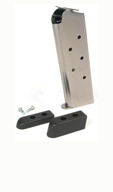 Check-Mate .45ACP, 7RD, SS, CMF, Bumper Pads - Full Size 1911 Magazine