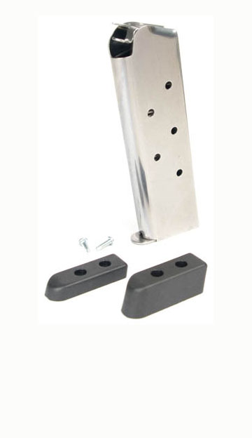 Check-Mate .45ACP, 7RD, SS, Hybrid, Bumper Pads - Full Size 1911 Magazine