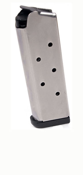 Check-Mate .45ACP, 7RD Compact, SS, Removable Base - Officer's Size 1911 Magazine