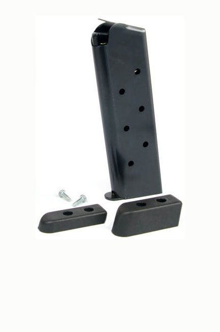 Check-Mate .45ACP, 8RD, Blue, Bumper Pads - Full Size 1911 Magazine