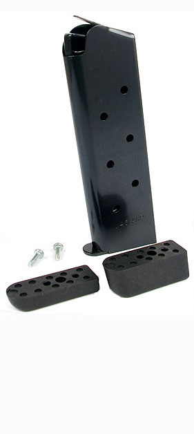 Check-Mate .45ACP, 8RD, Blue, Hybrid, Bumper Pads - Full Size 1911 Magazine