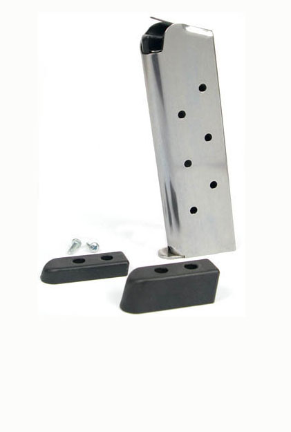 Check-Mate .45ACP, 8RD, SS, Hybrid, Bumper Pads - Full Size 1911 Magazine