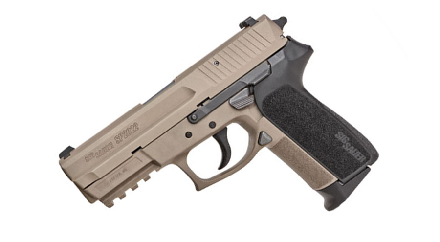 Sig Sauer SIGPRO 2022 9mm, Night Sights, DA/SA - Flat Dark Earth/Blk Grip