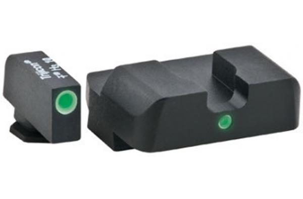 Ameriglo Tritium Night Sight Set - i-Dot - Glock 10mm, .45, .357 - Green/Yellow