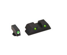 Ameriglo Tritium Night Sight Set - OPERATOR - Glock 10mm, .45 - Green/Yellow