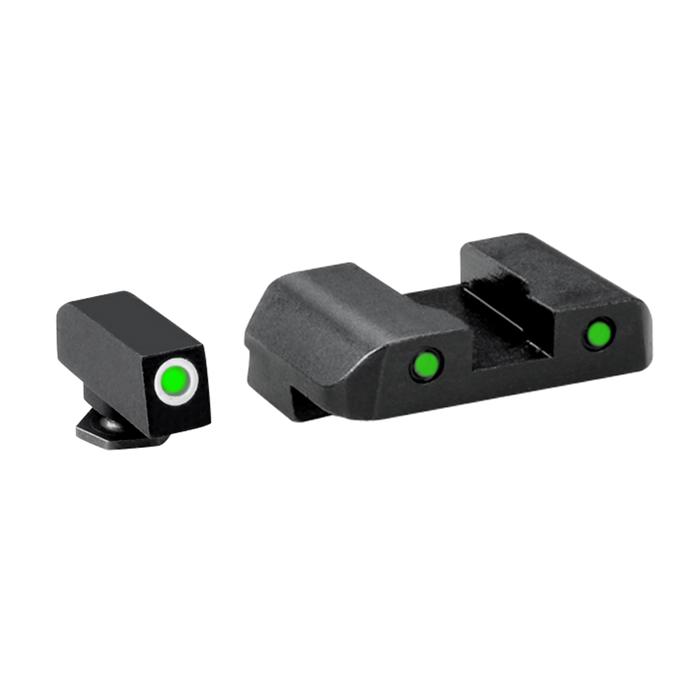 Ameriglo Tritium Night Sight Set - PRO OPERATOR SERIES - Glock 9mm, .40, .357, 45 G.A.P. - Green/Green
