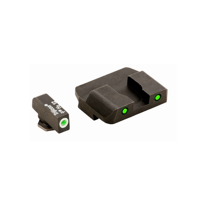 Ameriglo Tritium Night Sight Set - PRO OPERATOR SERIES - Glock 10mm, .45, .357 - Green/Green
