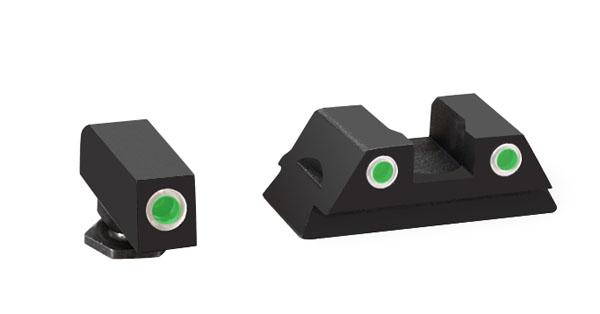 Ameriglo Classic Night Sight Set - Glock 42 Green/Green