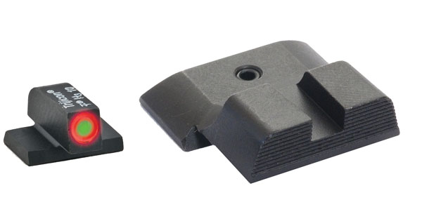 Ameriglo Tritium Night Sight Set - HACK - Glock 10mm, .45, .357 - Black/Green