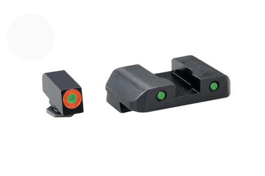 Ameriglo Tritium Night Sight Set - Spartan Tactical - Glock 9mm, .40, .357, .45 G.A.P. - Green/Green