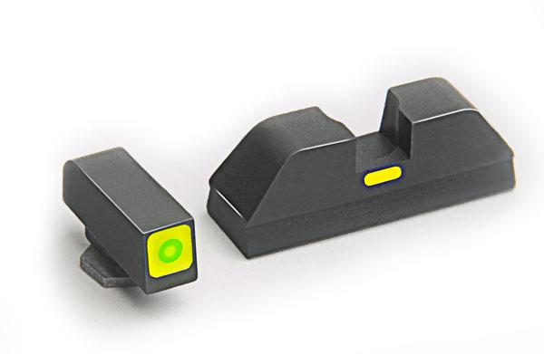 Ameriglo Tritium Night Sight Set - CAP - Glock 10mm, .45, .357 - Green/Green
