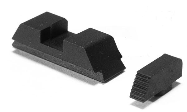 Ameriglo Defoor Tactical Sights - Glock 10mm, .45, .357 - Black/Black