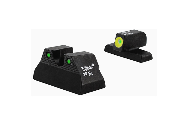 Trijicon HD Night Sight Set - HK USP Compact - YELLOW OUTLINE FRONT