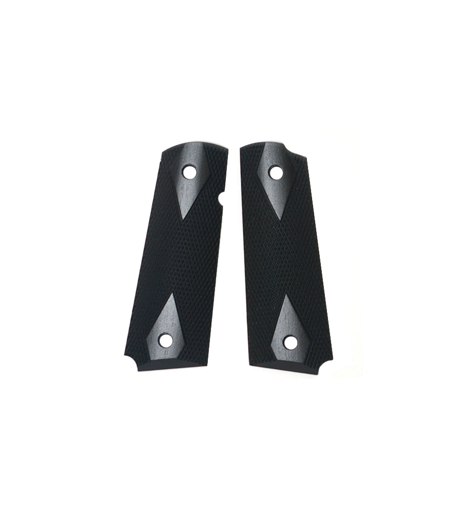 Ahrends Govt 1911 Grips, Double Diamond, Ebony