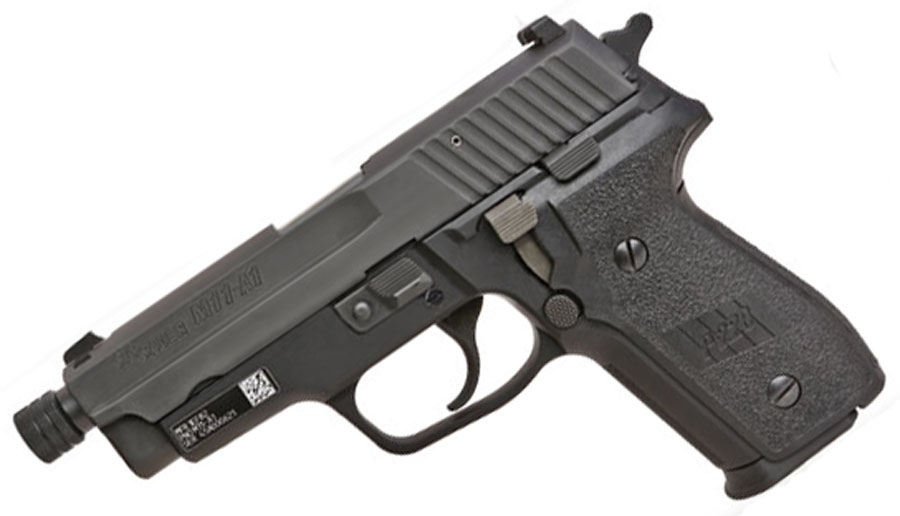 Sig Sauer M11-A1 9mm, Nitron, SigLite Night Sights, DA/SA - THREADED BARREL