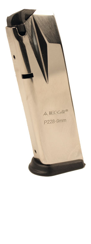 Mec-Gar P228/229 9mm 10rd magazine- NICKEL