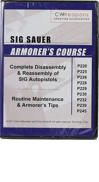 Sig Sauer Armorer's Course DVD - P SERIES