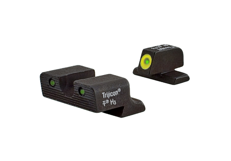 Trijicon HD Night Sight Set - HK45 - YELLOW OUTLINE FRONT