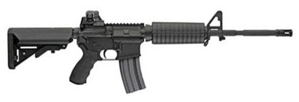 LMT Defender Standard Model Rifle, SOPMOD Stock, 5.56, 16 in.