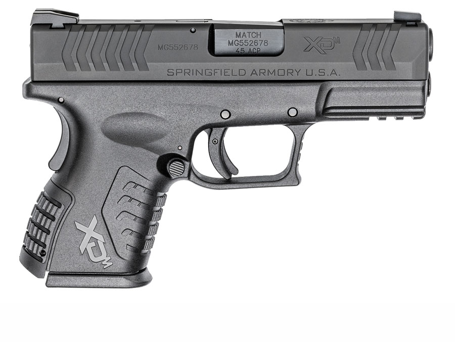 Springfield Armory XDM Compact, .45ACP, Fixed Sights, 3.8